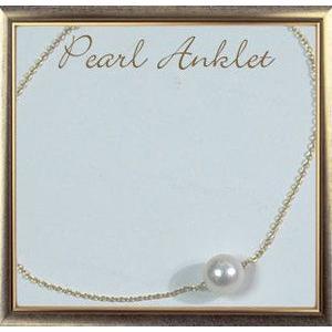 アンクレット K18天然パールアンクレット アコヤ本真珠8.5〜8.0mm|giyaman-jewellery
