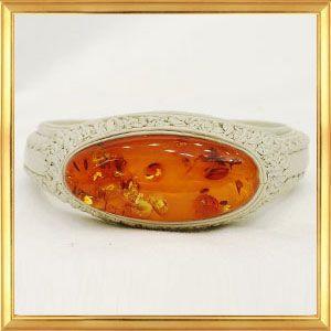 世界に一つだけのブレスレット 大きな美しい琥珀の天然革ブレスレット A|giyaman-jewellery