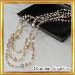 淡水パールカジュアルロングネックレス 長さ160cm|giyaman-jewellery