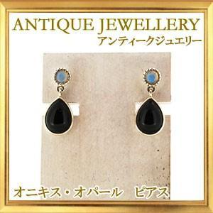 碌山 天然石 オニキス オパール ピアス ピアス|giyaman-jewellery