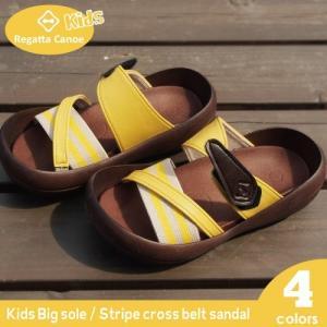 リゲッタ カヌー サンダル キッズ 18 16 17 履きやすい 厚底 クロス ベルト ボーダー sandal|gjweb