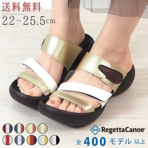 リゲッタ カヌー サンダル レディース 履きやすい 厚底 エッグヒール ベルトサンダル トリコロール sandal|gjweb