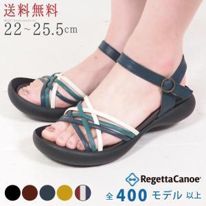 リゲッタ カヌー サンダル レディース 履きやすい ぺたんこ...