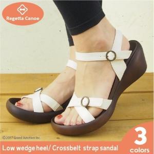 リゲッタカヌー サンダル レディース ウェッジソール クロス ベルト バックル sandal|gjweb