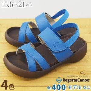 リゲッタカヌー サンダル キッズ 18 16 17 履きやすい クロス ベルト ストラップ sandal|gjweb