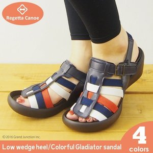 リゲッタカヌー サンダル レディース ウェッジソール カラフル グラディエーター sandal|gjweb