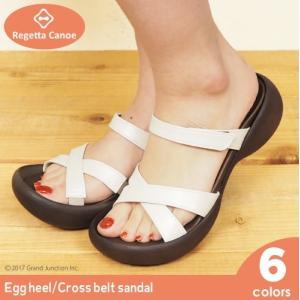 リゲッタ カヌー サンダル レディース 履きやすい 厚底 エッグヒール クロス ベルト sandal|gjweb