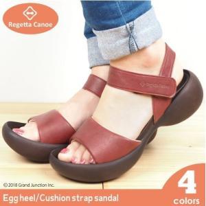 リゲッタ カヌー サンダル レディース 履きやすい 厚底 エッグヒール アンクル ストラップ ふわふわ クッション sandal|gjweb
