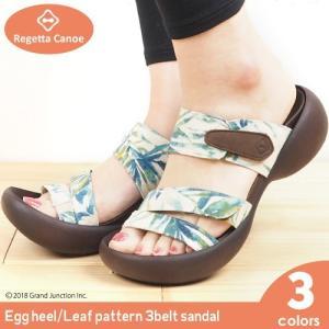リゲッタ カヌー サンダル レディース 履きやすい 厚底 エッグヒール ボタニカル 柄 夏 履きやすい sandal|gjweb