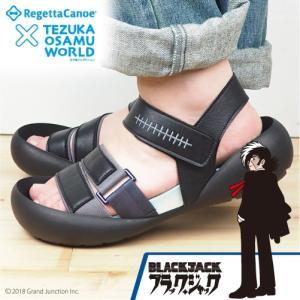 リゲッタカヌー 手塚治虫 ブラック・ジャック サンダル メン...