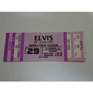 エルビス・プレスリー 1977年3月29日のチケット Elvis Presley gkaitori