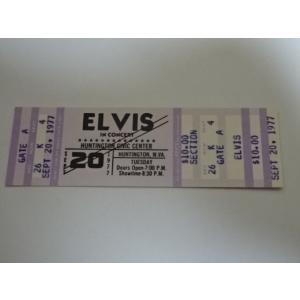 エルビス・プレスリー 1977年9月20日のチケット Elvis Presley gkaitori