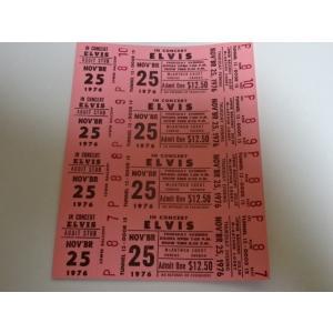 エルビス・プレスリー 1976年のチケット Elvis Presley gkaitori