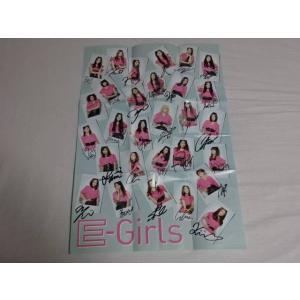 E-girls Follow Meの 直筆サイン入りポスター 折り目あり|gkaitori