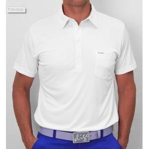 スライゴ Sligo ポロシャツ Martin ホワイト|gkgolf