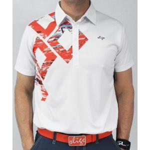 スライゴ Sligo ポロシャツ HAIDEN ホワイト/ディープオレンジ|gkgolf