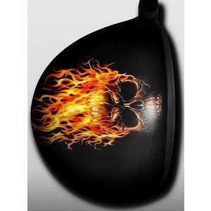 Skull with Fire|gkgolf