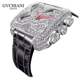 【日本正規総代理店】GVCHIANI(ブチアーニ)BIG SQUARE WHITE GOLD FULL DIAMOND TOURBILLON 18Kホワイトゴールド フルダイヤモンド 25カラット トゥールビヨン