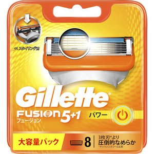 P&G ジレット フュージョン5+1 5枚刃 パワー 替刃 8個入 剃刀 Gillette