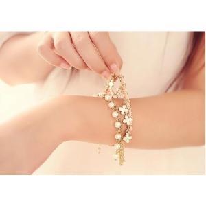 ブレスレット レディース ヨーロッパ クローバー 宝石 革 ...