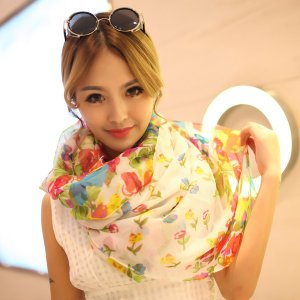 ストール レディース 大判ストール 花柄 ネオンカラー スカーフ|glamorous-jewel|02