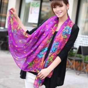 ストール レディース 大判ストール 花柄 ネオンカラー スカーフ st3 glamorous-jewel 08