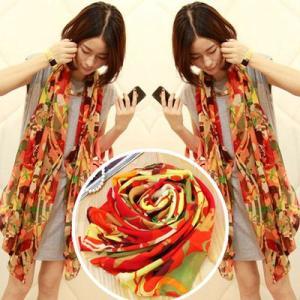 ストール レディース ヨーロッパスタイル 花柄 ネオンカラー レディース スカーフ ストール glamorous-jewel 04