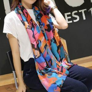 ストール レディース ヨーロッパスタイル 花柄 ネオンカラー レディース スカーフ ストール glamorous-jewel 06