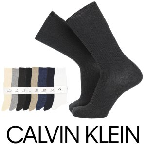 Calvin Klein カルバンクライン綿混 毛混 ワンポイント クルー丈 メンズ ソックス 男性...
