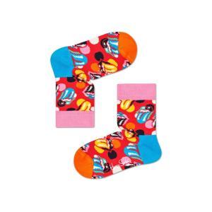 Happy Socks × The Rolling Stones ( ローリングストーンズ ) Big Licks 子供 クルー丈 ソックス 12213002|glanage