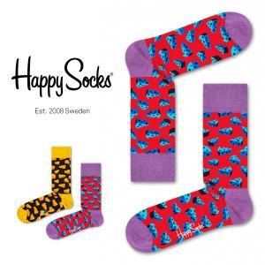 Happy Socks ハッピーソックス CHEESE ( チーズ ) クルー丈 綿混 ソックス 靴...