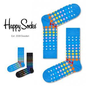 Happy Socks ハッピーソックス FADED DISCO DOT ( フェイディド ディスコ ドット) クルー丈 綿混 ソックス 靴下 ユニセックス メンズ&レディス 1A113011|glanage