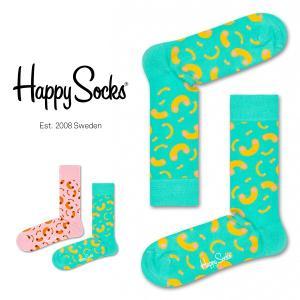 Happy Socks ハッピーソックス MACARONI ( マカロニ ) クルー丈 綿混 ソックス 靴下 ユニセックス メンズ&レディス 1A113020|glanage