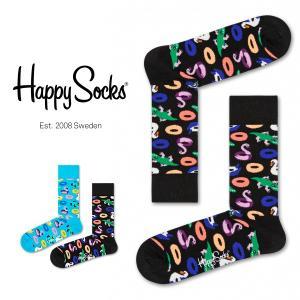 Happy Socks ハッピーソックス POOL PARTY ( プール パーティー ) クルー丈 綿混 ソックス 靴下 ユニセックス メンズ&レディス 1A113025|glanage