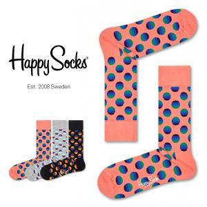 Happy Socks ハッピーソックス SUNRISE DOT ( サンライズ ドット ) クルー丈 綿混 ソックス 靴下 ユニセックス メンズ&レディス 1A113031|glanage