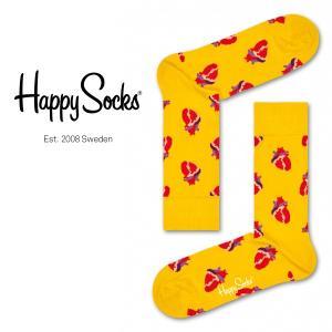 Happy Socks ハッピーソックス TRUE LOVE ( トゥルー ラブ ) クルー丈 綿混 ソックス 靴下 ユニセックス メンズ&レディス 1A113033|glanage