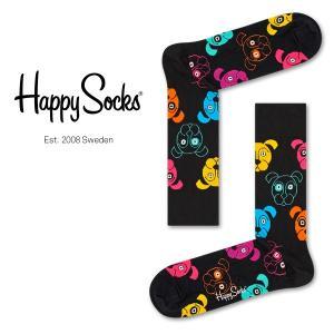 Happy Socks ハッピーソックス DOG (ドッグ ) クルー丈 綿混 ソックス 靴下 ユニセックス メンズ&レディス 1A113038|glanage