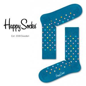 Happy Socks ハッピーソックス ESSENTIALS-DOT ( エッセンシャルズ ドット ) クルー丈 綿混 ソックス 靴下 ユニセックス メンズ&レディス 1A113040 glanage