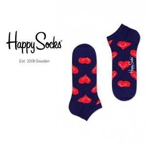 Happy Socks ハッピーソックス SMILEY HEART ( スマイリー ハート ) スニーカー丈 パフォーマンス 綿混 ソックス 靴下ユニセックス メンズ&レディス 1A123008|glanage