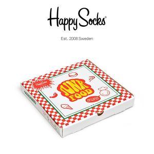 Happy Socks ハッピーソックス JUNKFOOD ( ジャンクフード ) 4足組 ギフトセット クルー丈 ソックス 靴下 GIFT BOX ユニセックス 1A143005|glanage