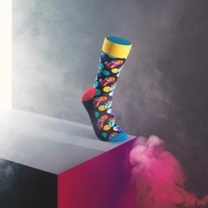Happy Socks × The Rolling Stones ( ローリングストーンズ ) BIG LICKS クルー丈 ソックス 靴下 ユニセックス 1A413004|glanage