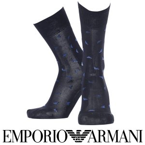 EMPORIO ARMANI エンポリオ アルマーニ 抗菌防臭 メンズ ソックス 靴下 イーグルロゴ ドット クルー丈 ビジネス ソックス ポイント10倍|glanage