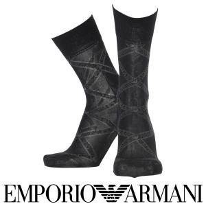 EMPORIO ARMANI エンポリオ アルマーニ 抗菌防臭 メンズ 靴下 ブランドロゴ柄 クルー丈 ビジネス ソックス ポイント10倍|glanage