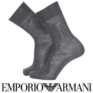 EMPORIO ARMANI エンポリオ アルマーニ 抗菌防臭 メンズ ソックス 靴下 リンクス柄 クルー丈 ビジネス ソックス  ポイント10倍|glanage
