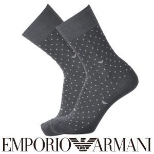 EMPORIO ARMANI エンポリオ アルマーニ ビジネス イーグルドット柄 強撚糸使用 クルー丈 メンズ 紳士 ソックス 靴下 ポイント10倍|glanage