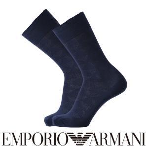 EMPORIO ARMANI エンポリオ アルマーニ ビジネス イーグル モノグラム柄 抗菌防臭 クルー丈 メンズ 紳士 ソックス 靴下 ポイント10倍|glanage