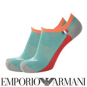 EMPORIO ARMANI エンポリオ アルマーニ SPORT(スポーツ) スニーカーモチーフ スニーカー丈 メンズ 紳士 ソックス 靴下 ポイント10倍|glanage