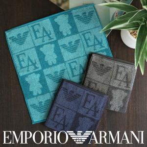 EMPORIO ARMANI エンポリオ・アルマーニ マンガベア 綿100% タオルハンカチ メンズ プレゼント 贈答 ギフトの画像