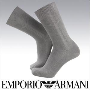EMPORIO ARMANI 綿混 メンズ カジュアル ソックス 靴下 ワンポイント×ライン入り クルー 抗菌 防臭 綿混 ソックス ポイント10倍|glanage