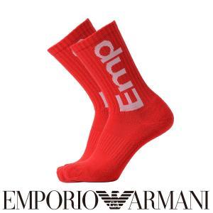 EMPORIO ARMANI エンポリオ アルマーニ スポーツ EMP ロゴ クルー丈 メンズ 紳士 ソックス 靴下 ポイント10倍|glanage